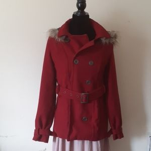 DOLLHOUSE Outerwear Pea Coat with MK wallet